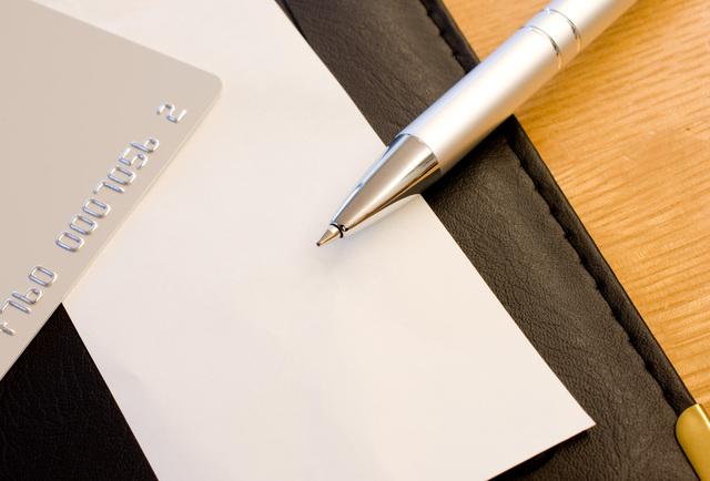 クレジットカードとサイン