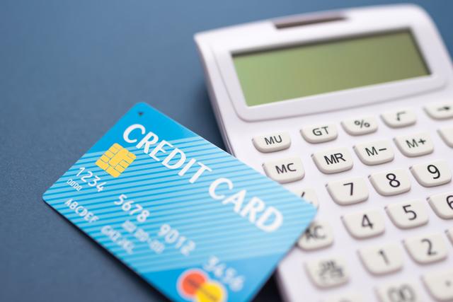 クレジットカードと計算器